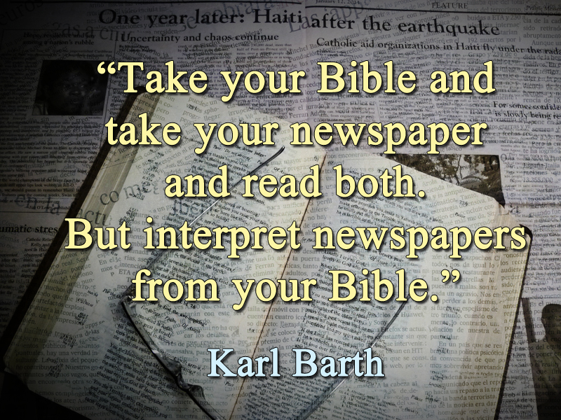 Come and See 2018 K Barth quote