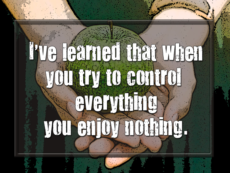 Giving Up Control enjoy nothing
