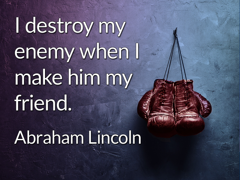 Giving Up Enemies quote 2