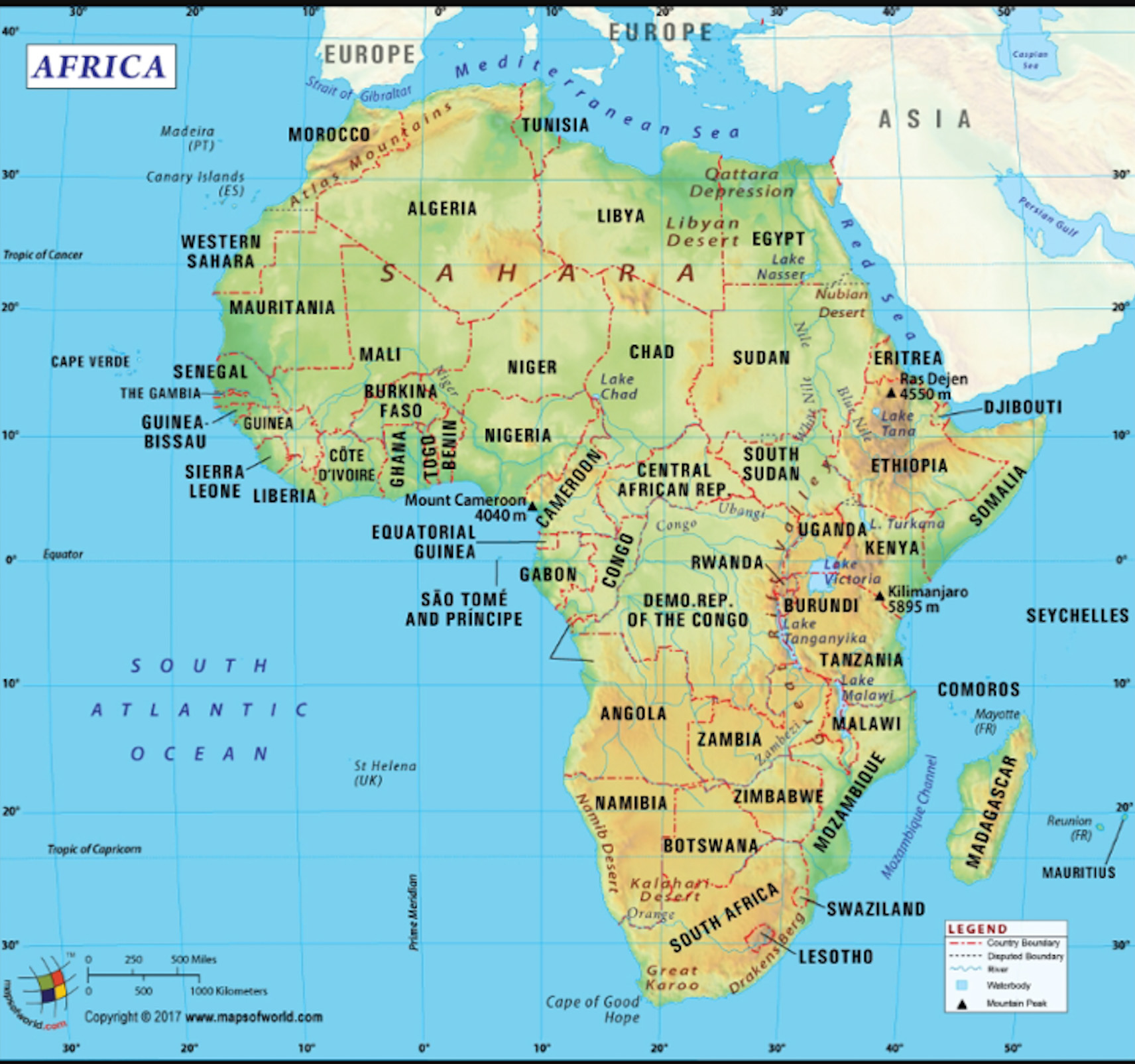 Africa Map 3