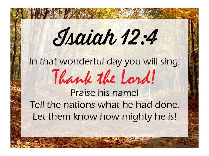 Isaiah 12 4 NLT