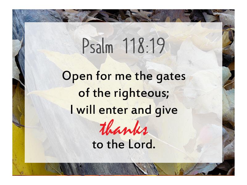 Psalm 118 19 NIV