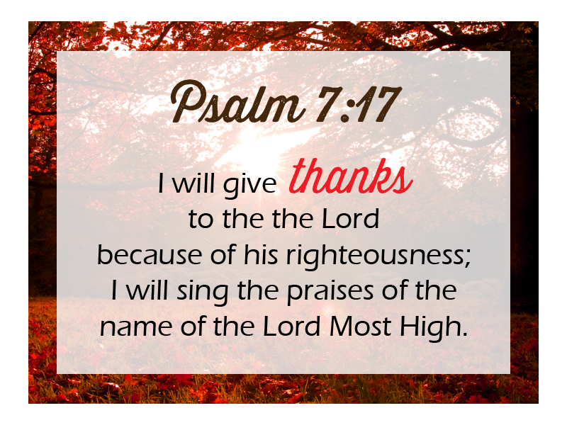 """November 20, 2016 Message: """"Generosity And Thanksgiving"""