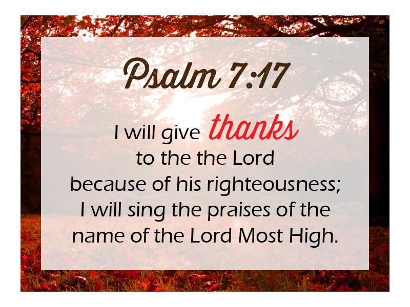 Psalm 7 17 NLT