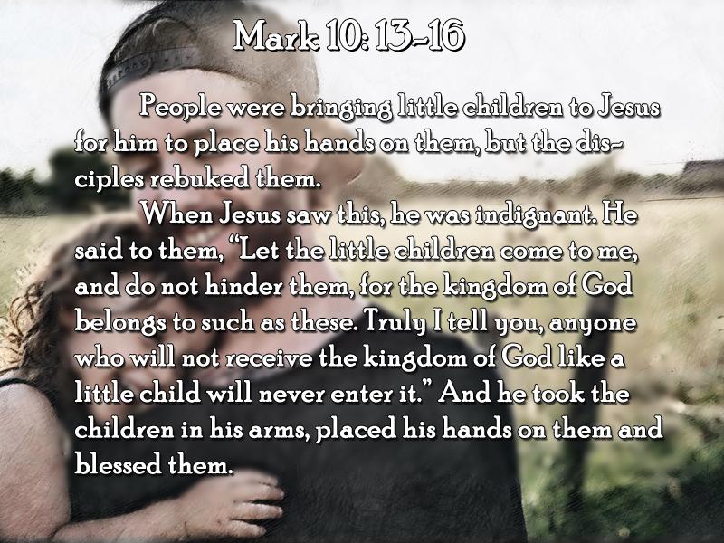 Child 6-17-18 Like Father Like Son Mark 10