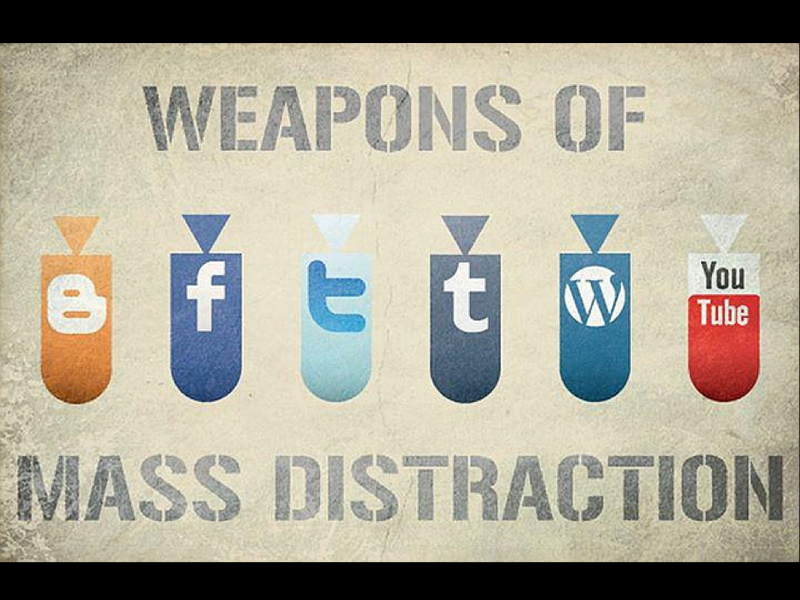 The Distracted Life weapons