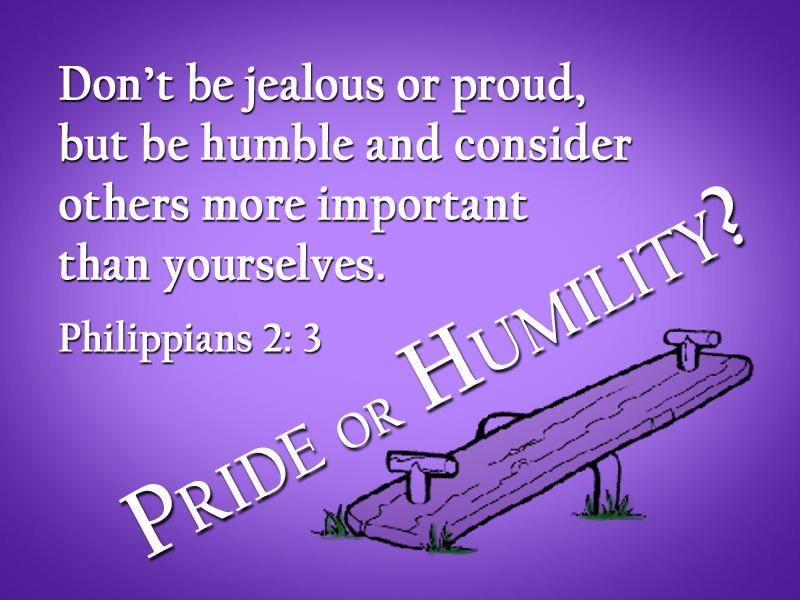 July 26 Message Pride Or Humility Lake Harbor Umc
