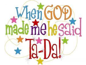 Starting Over 6-19-16 In God's Image ta-da
